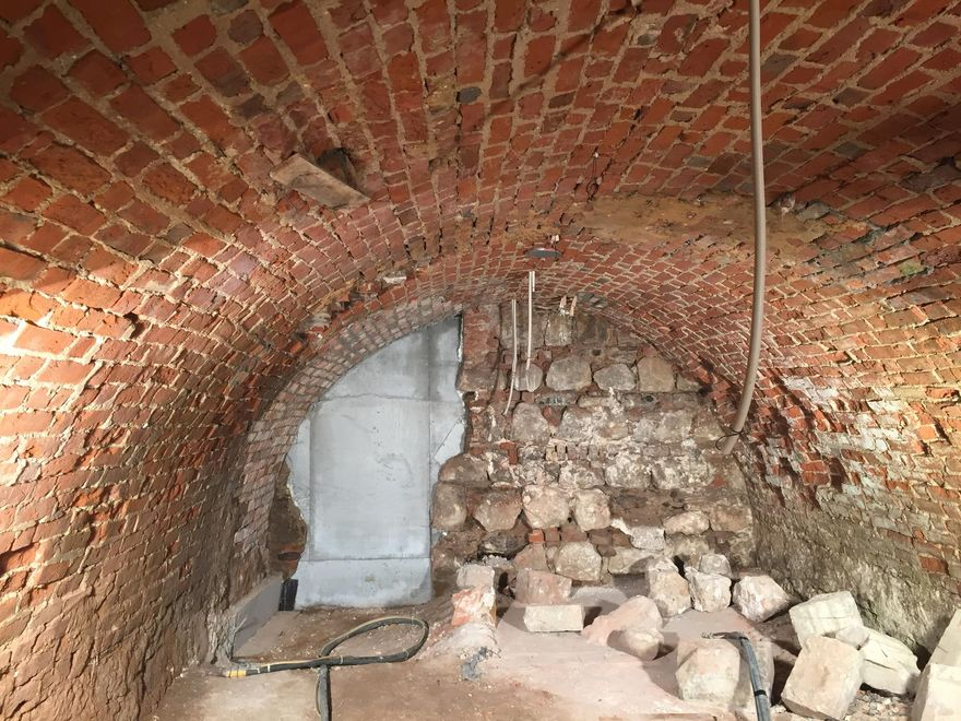 Photo: Wittenberg Castle South Wing: Vaulted cellar in the south wing of Wittenberg Castle