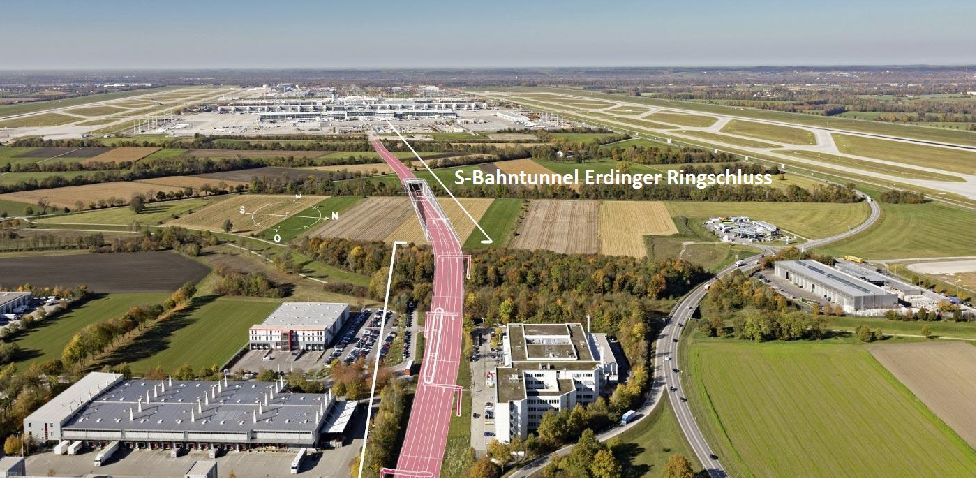 The Erdinger Ringschluss will significantly enhance the performance and connectedness of the existing rail infrastructure.